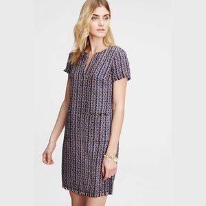 NWOT Ann Taylor Split Neck Tweed Shift Dress